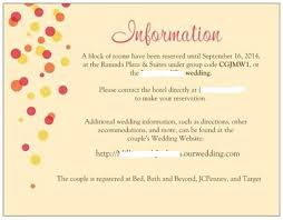 wedding invitations inserts directions and accommodations cards necessary weddingbee registry