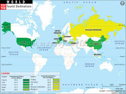 tourist destinations in the world top ten travel map
