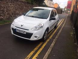 renault clio white 2010 1 2 3 dr manual petrol in barrow