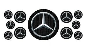 car mercedes logo domed round emblems