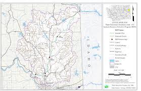 Spokane Wa Map Instream Flow Data Wria 55 Little Spokane River Basin Wria 55