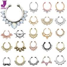 sale nose rings images Best hot sale variety fake septum nose rings crystal gold faux jpg