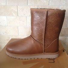 ugg layna sale ugg 1005955 layna leather wedge sheepskin boots us 5