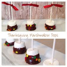 thanksgiving marshmallow pops the casual craftlete a creative
