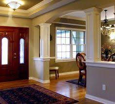 interior columns for homes craftsman columns foyer dining room for the home