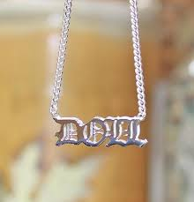 3d nameplate necklace nlate necklace the purple mermaid