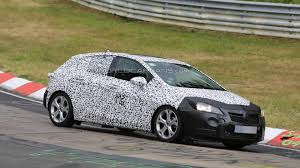 opel astra hatchback 2014 2016 opel astra spied testing at the nurburgring