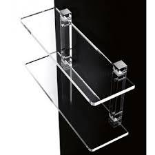 mensola plexiglass mensole da bagno in plexiglass con supporti trasparenti mensola