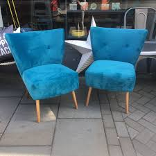 retro style velvet occassional chairs consortium vintage