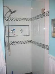 shower ideas bathroom large white tile shower ideas jessim info
