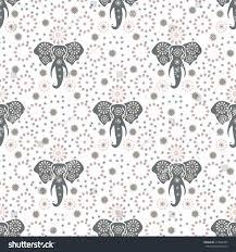 elephant seamless pattern print vector illustration stock vector