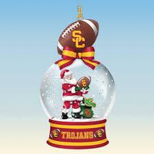 usc trojans snow globe ornaments the danbury mint