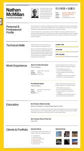 reference resume minimalistic logo animations 40 great html cv resume templates template idesignow