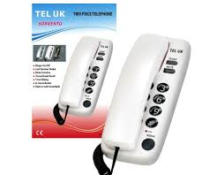 Sorrento Desk Uk 18035w Sorrento Desk U0026 Wall Mountable Corded Telephone White