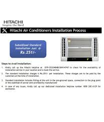 hitachi 1 ton 3 star kampa rau312hudd split air conditioner white
