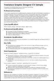Resume Core Qualifications Examples by Freelance Graphic Designer Cv Sample Myperfectcv