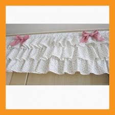 ruffle ribbon affluent ruffle valance curtain for window treatment kitchen living