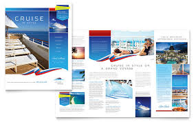 travel brochure template for students cruise travel brochure template design