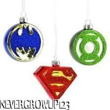 hallmark justice league blown glass ornament set 3 batman superman