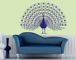 Peacock Living Room Decor Peacock Wall Decor Etsy