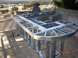 how to build a outdoor kitchen island building an outdoor grill island with steel studs prefabricated