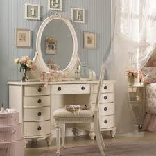 White Vanity Stool For Bathroom by Grey Girls Bedroom Decorated With Small White Vanity Desk