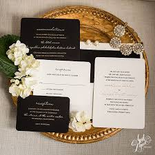 and black wedding invitations carolann dan s luxurious gold foil and black letterpress wedding
