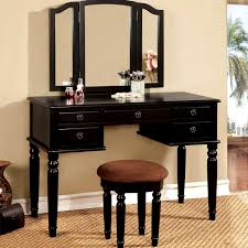 furniture black makeup vanity table modern looking home interior