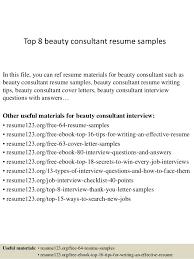 cv beauty consultant