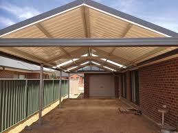 sol home improvements gallery of steel roof styles gable roof patio with monoclad roof sheeting
