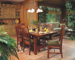 mission style dining room mission style cherry dining furniture craftsman dining room