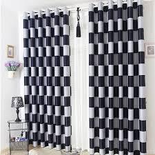 Grey Plaid Curtains Brief Light Grey And Black Coffee Plaid Blackout Sheer Window