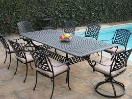 cast aluminum outdoor patio furniture piece table sets tops