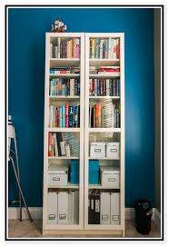 Bookshelves Glass Doors by Billy Bookcase With Glass Doors