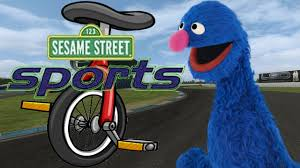 sesame street sports grover u0027s unicycle ride game