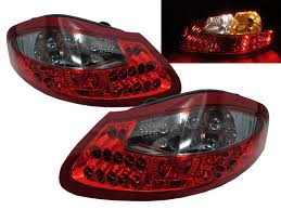 Porsche Boxster 1996 - crazythegod boxster 986 1996 2004 led tail rear light red clear