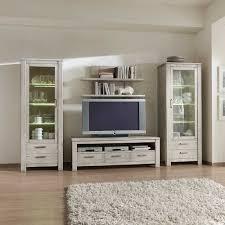 Wohnzimmerschrank Verkaufen Massivholz Wohnwand In Hellgrau Fichte 4 Teilig