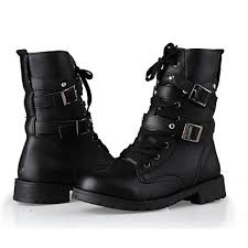 womens combat boots nz s shoes nz low heel buckles lace up front ankle combat boots