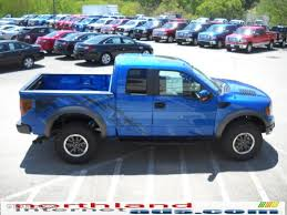 Ford Raptor Blue - 2010 blue flame metallic ford f150 svt raptor supercab 4x4