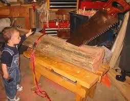 Log Saw Bench Timber Frame Tools Rip Sawing An Old Log