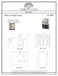 Bathroom Vanity Standard Depth Incredible Bathroom Vanity Dimensions Also Modern Standard Depth