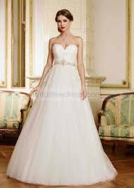 sweetheart neckline wedding dress a line strapless sweetheart neckline ivory lace tulle wedding