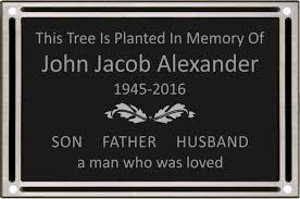outdoor memorial plaques outdoor dedication or memorial plaque 8x10
