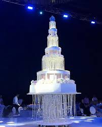wedding cake model inside russian oligarch aleksey shapovalov s lavish wedding to