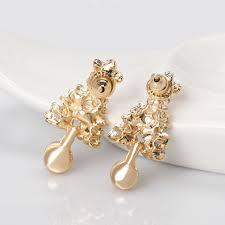 gold stud earrings for women feng charms green christmas tree stud earrings