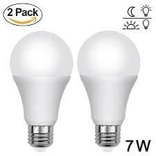 led light bulb with dusk to dawn sensor aukora dusk to dawn light bulbs 7w e26 e27 sensor lights bulbs