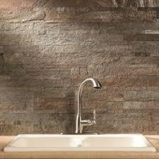 Stone Backsplash Kitchen by Aspect 6 X 24 Inch Charcoal Slate Peel And Stick Stone Backsplash