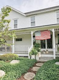 Porch Flags Happy Memorial Day From White Cottage Farm Liz Marie Blog