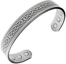 healthy magnetic bracelet images Stylish pewter copper magnetic bracelet for arthritis men living jpg