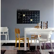 Wall Decals For Dining Room Blackboard Wall Stickers This Month Schedule Timetable Diy